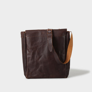 Paul Harnden Brown Leather Record Bag