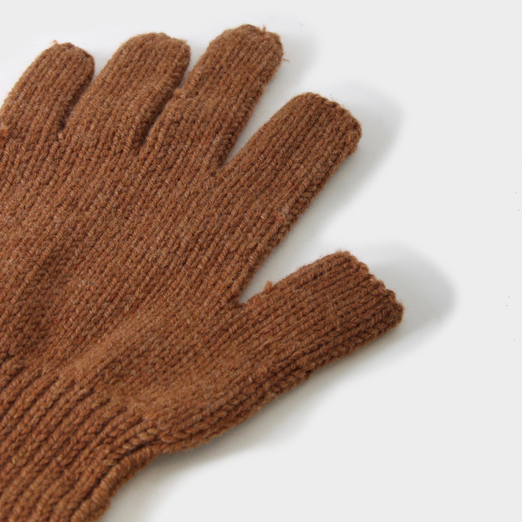 Rick Owens Rust Wool Knitted Gloves