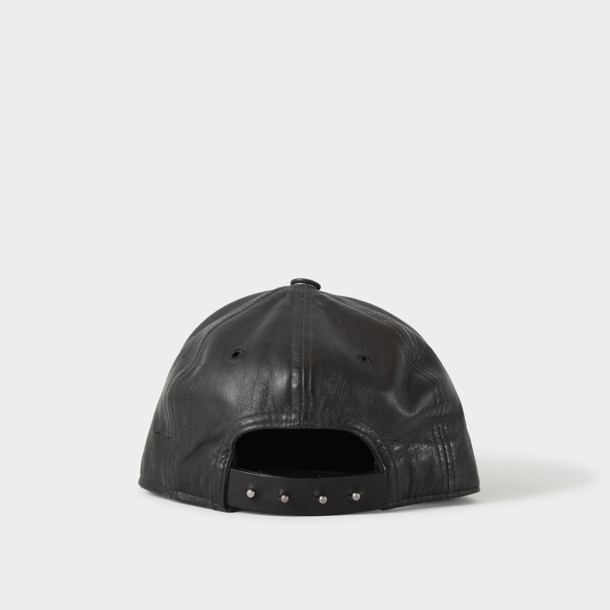 Rick Owens DRKSDHW Leather 6 Panel Hat