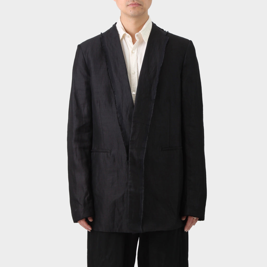 Lost and Found Black Ramie Silk Coat
