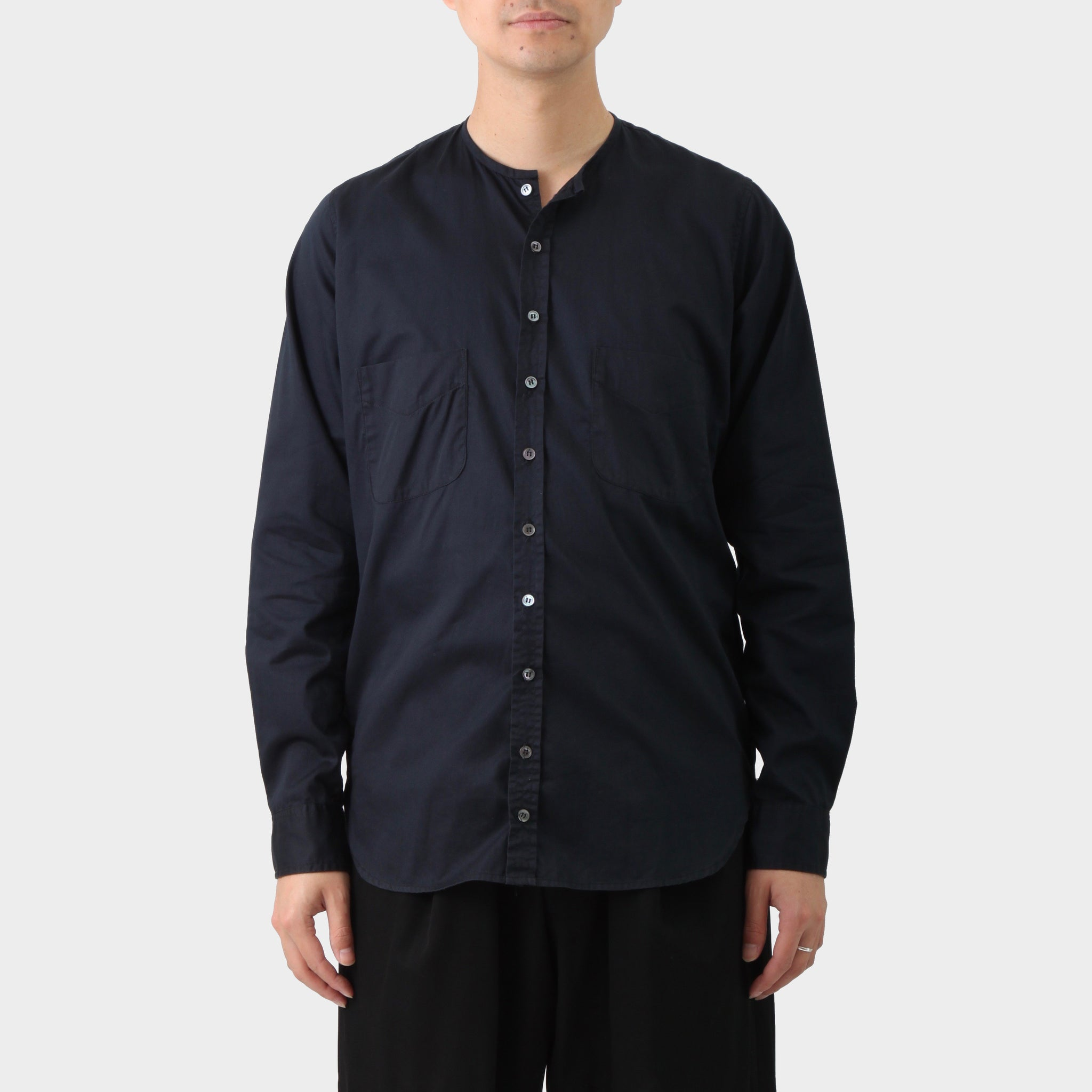Paul Harnden Shoemakers Navy Collarless Shirt