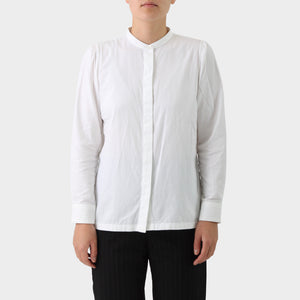 Dries van Noten White Collarless Shirt