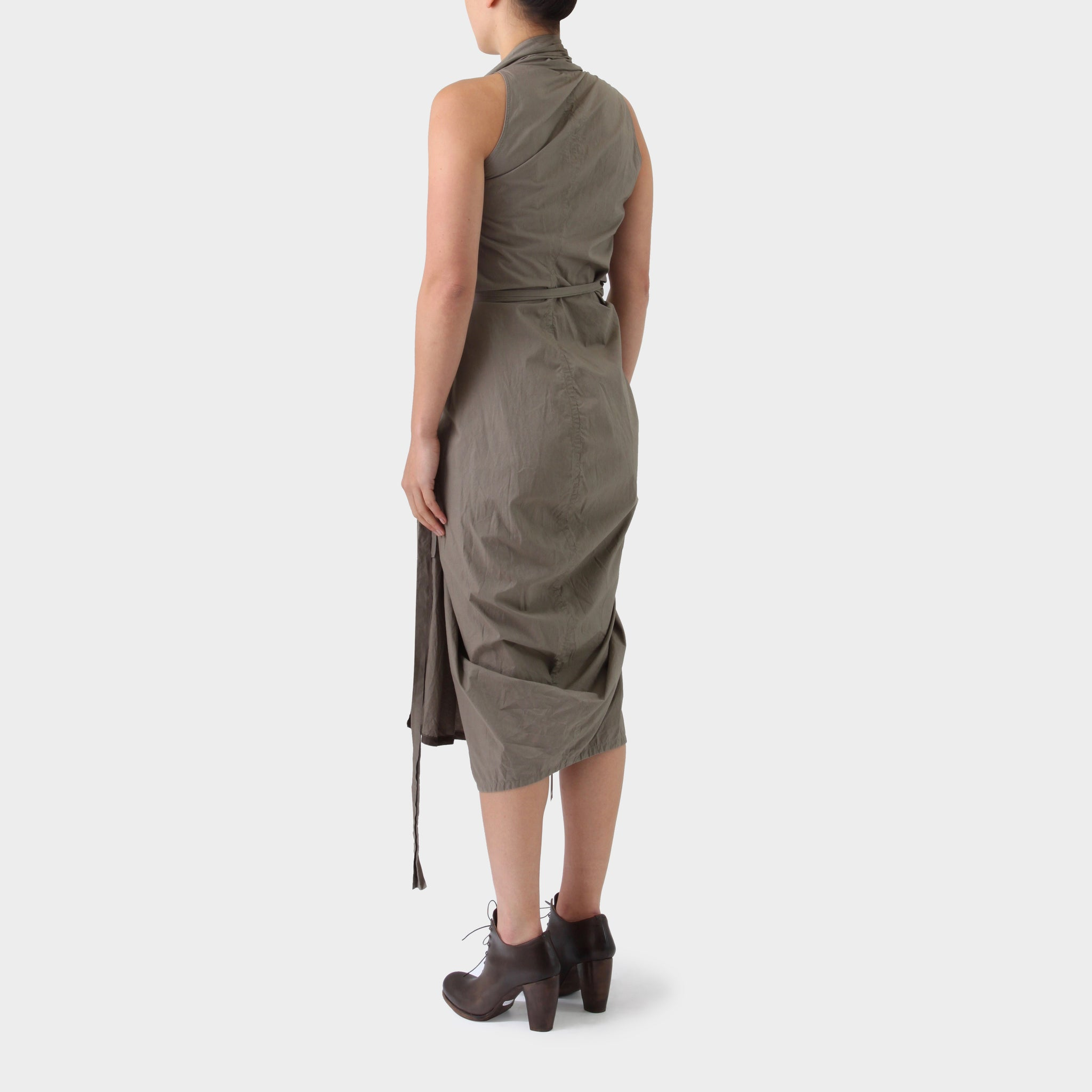 Rick Owens Wrap Front-Draped Dress