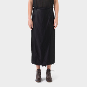 Elena Dawson Button Silk Skirt