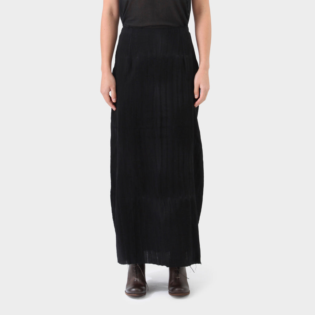Marc Le Bihan Black Silk Stretch Skirt