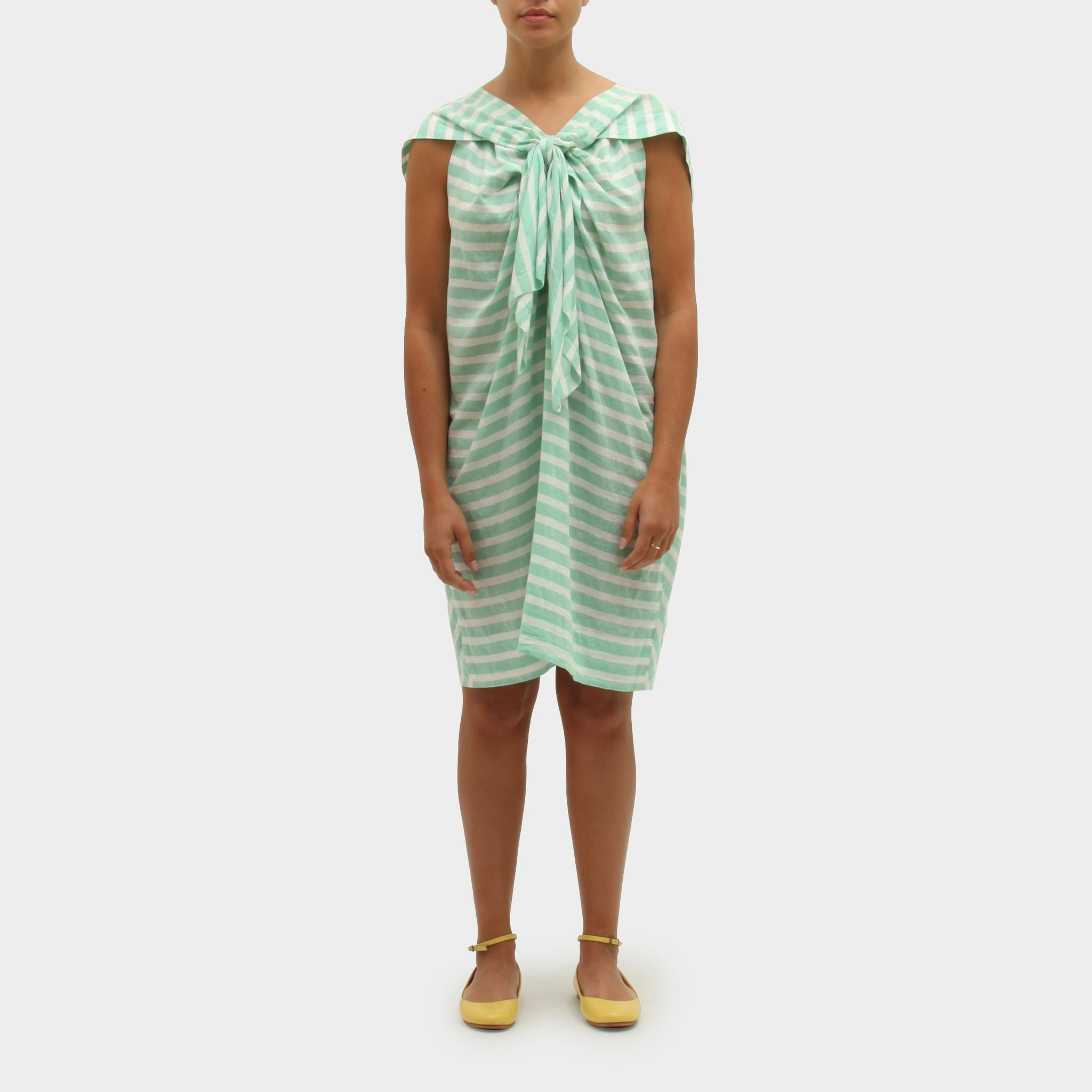 Bernard Wilhelm Striped Tie-Front Dress