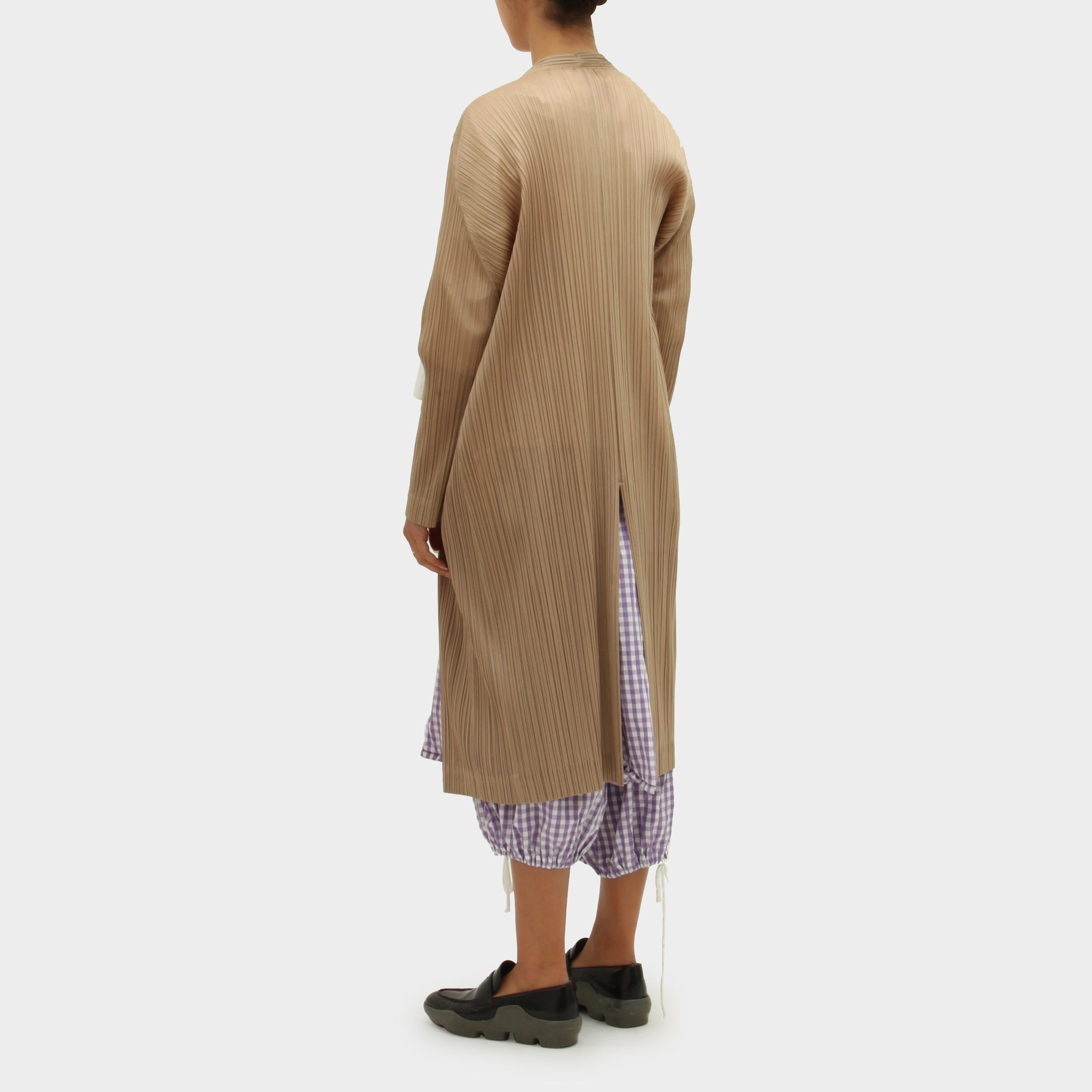 Pleats Please Long Cardigan