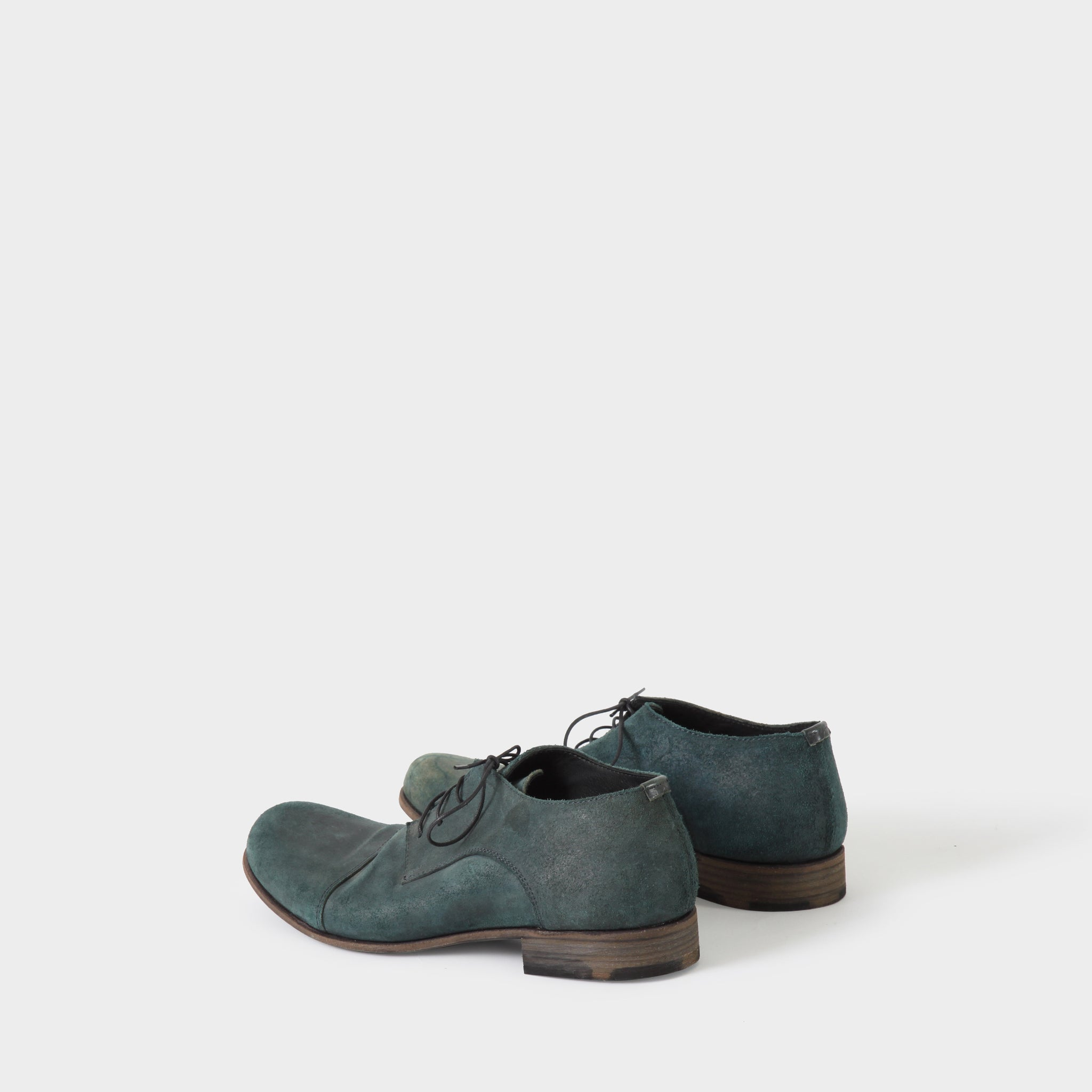 MA+ Blue Leather Cap Toe Derby