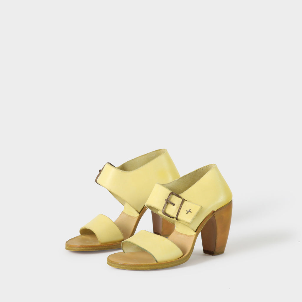 MA+ Yellow Leather Heels