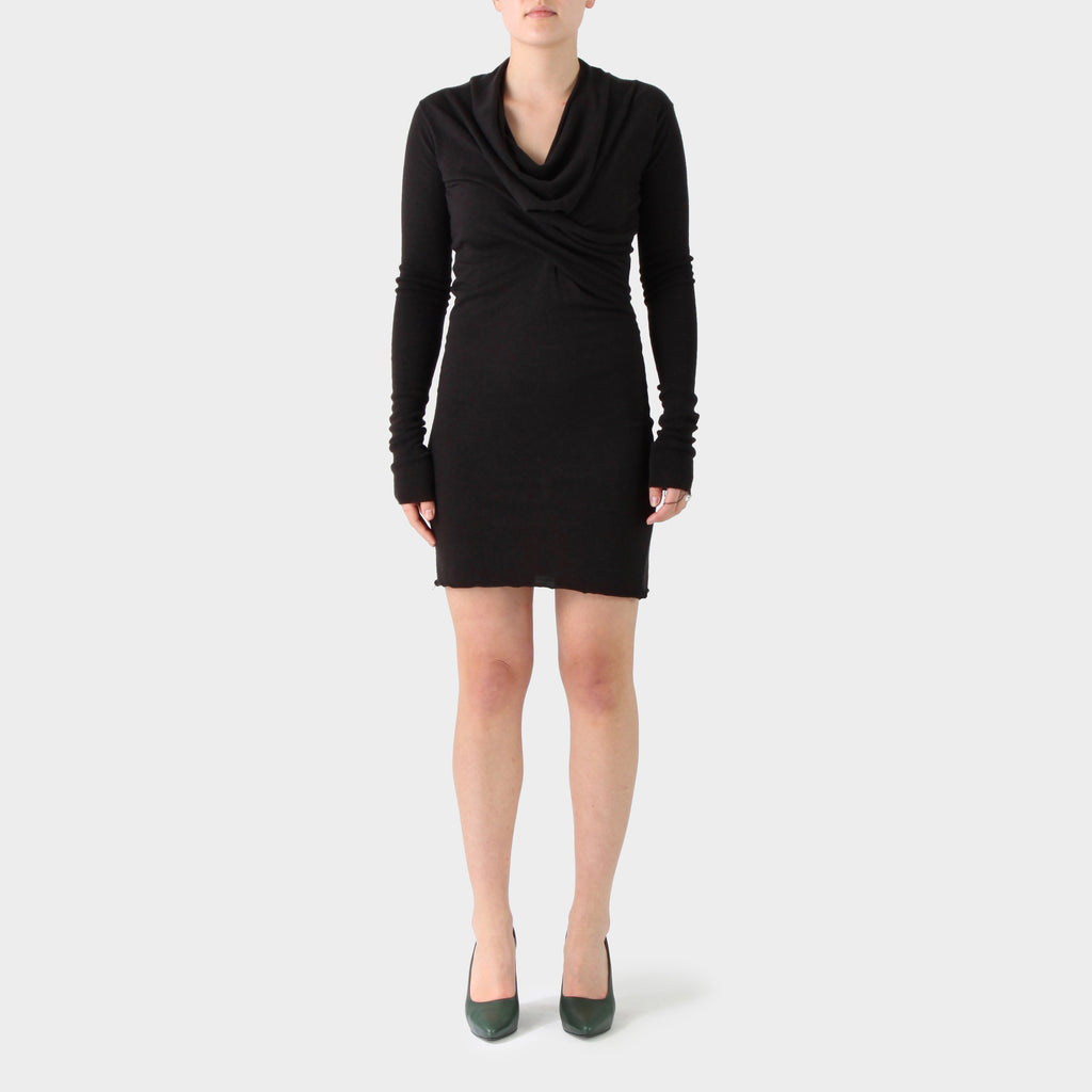 Rick Owens Lillies Cashmere Jersey Twisted Dress