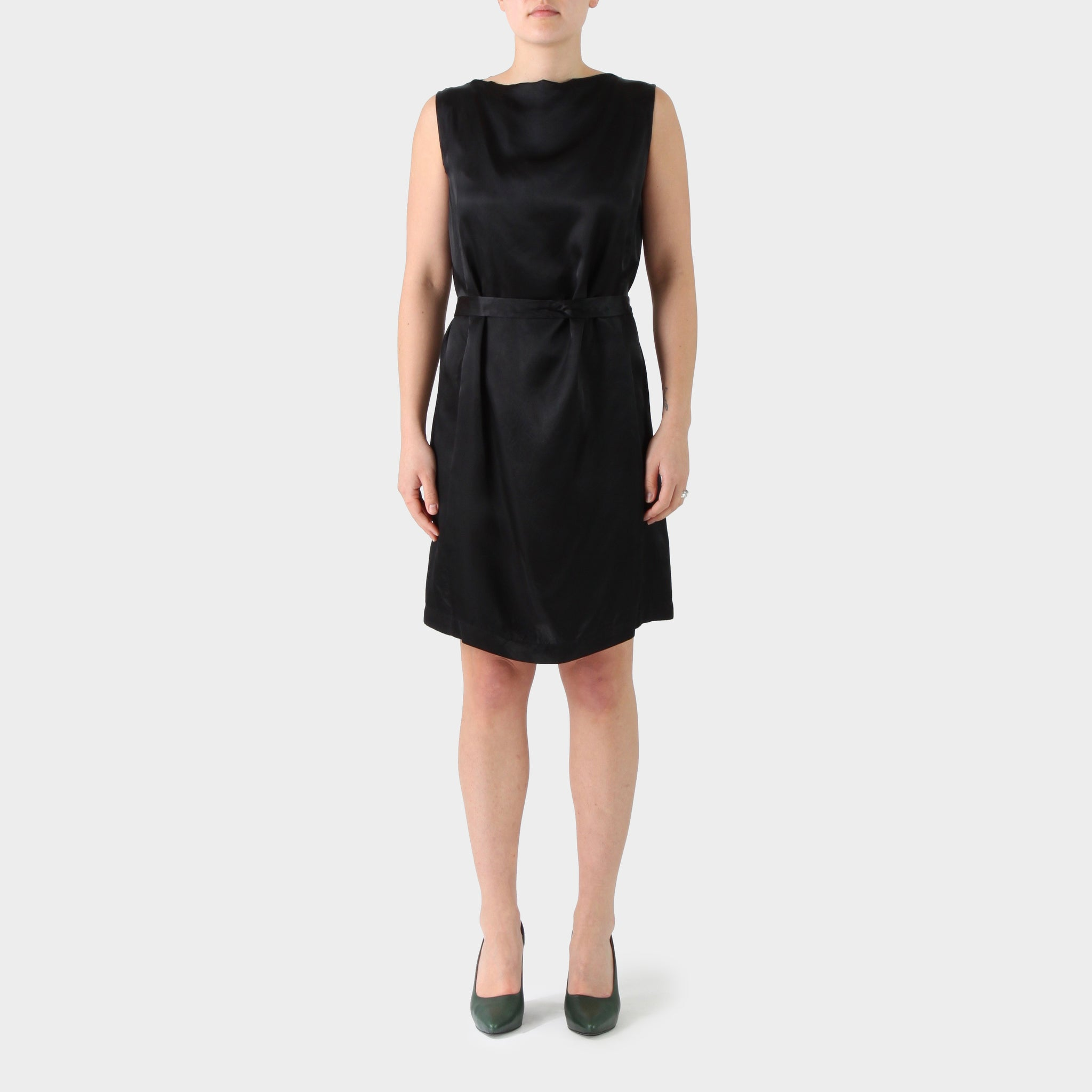 Rick Owens Silk Self Belted Dress
