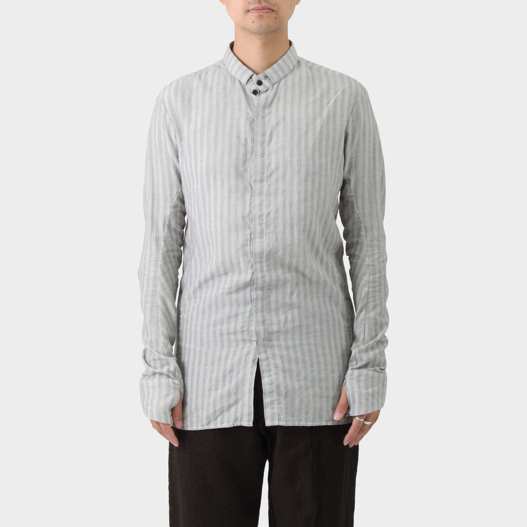 Boris Bidjan Saberi Striped Grey Cotton Shirt