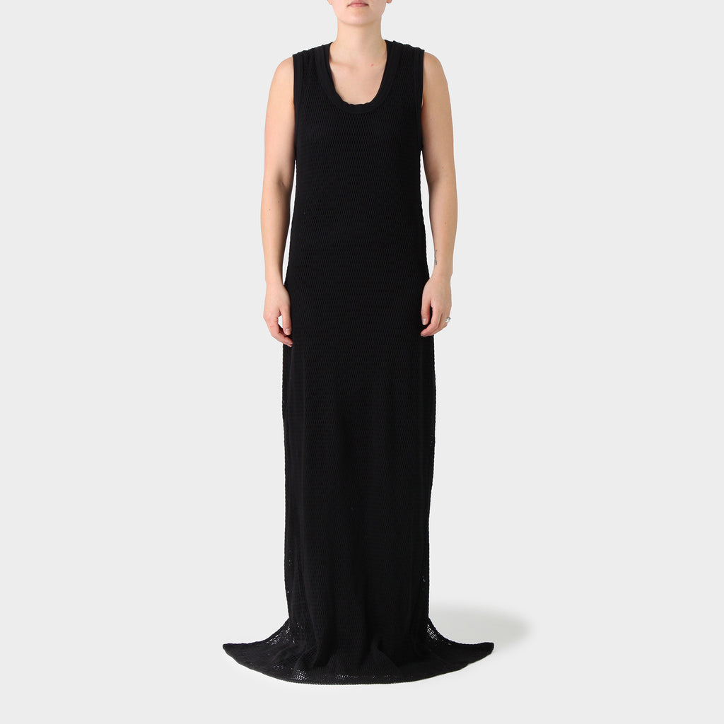 Vetements Floor Length Black Net Dress