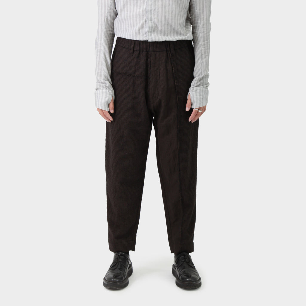 Ziggy Chen Houndstooth Spliced Pant