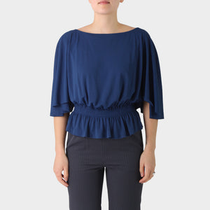 Maison Martin Margiela Line 4 Crepe Gathered Waist Top
