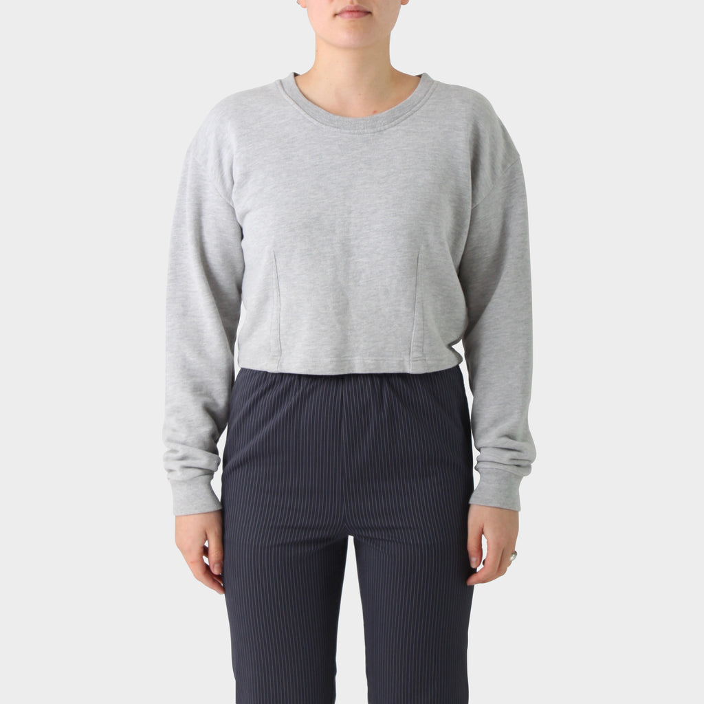 Maison Martin Margiela Line 1 Cropped and Darted Crew Neck Sweatshirt