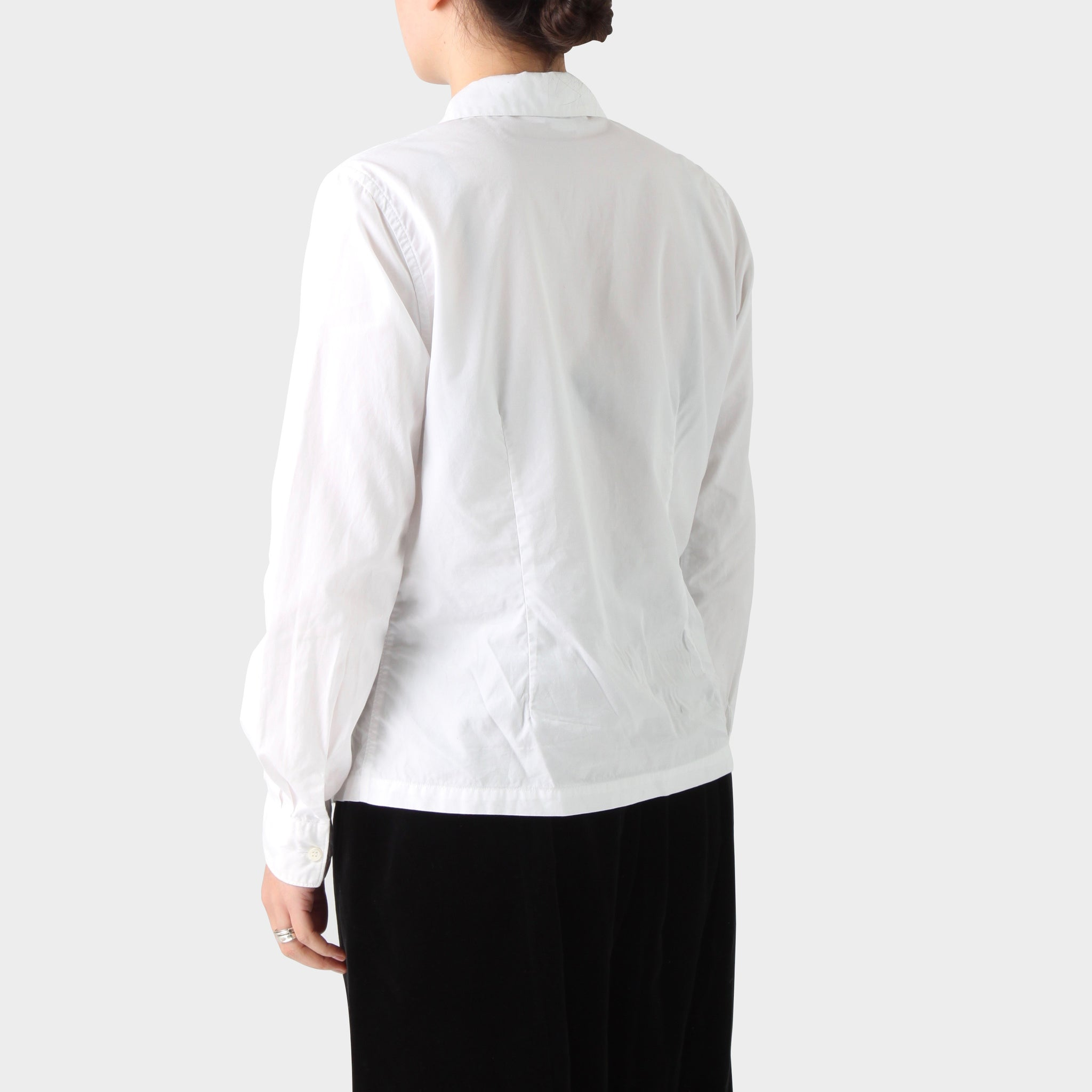Comme des Garçons White Cotton Peter Pan Collar Shirt