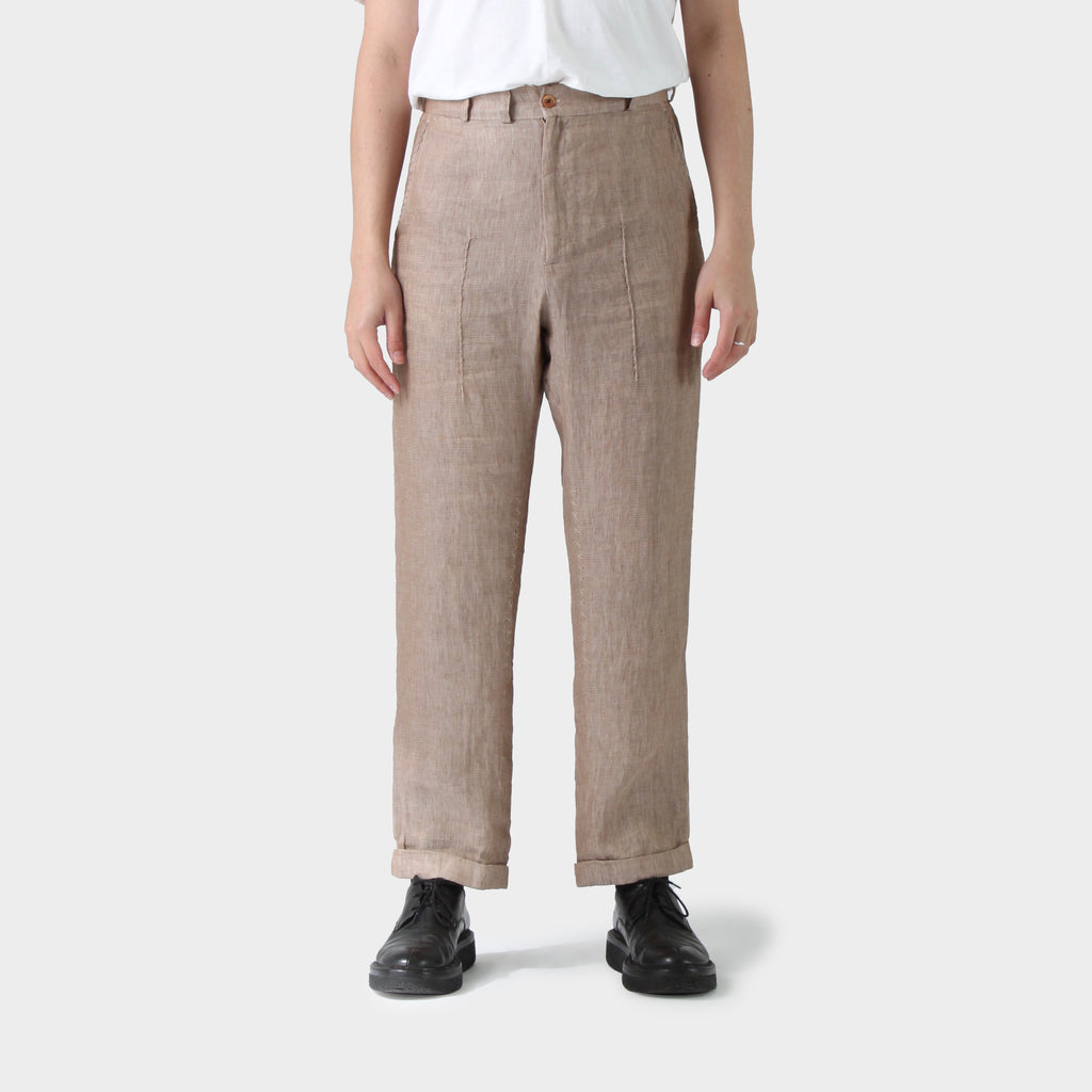 Geoffrey B Small Pintuck Linen Pants