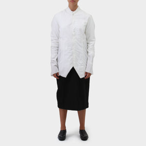 Lost and Found White Cotton Layered Jacket