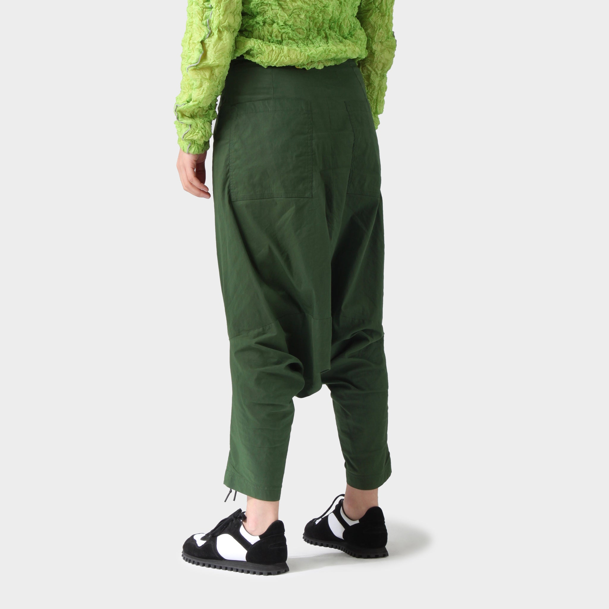 RUNDHOLZ DIP Green Drop Crotch Pants