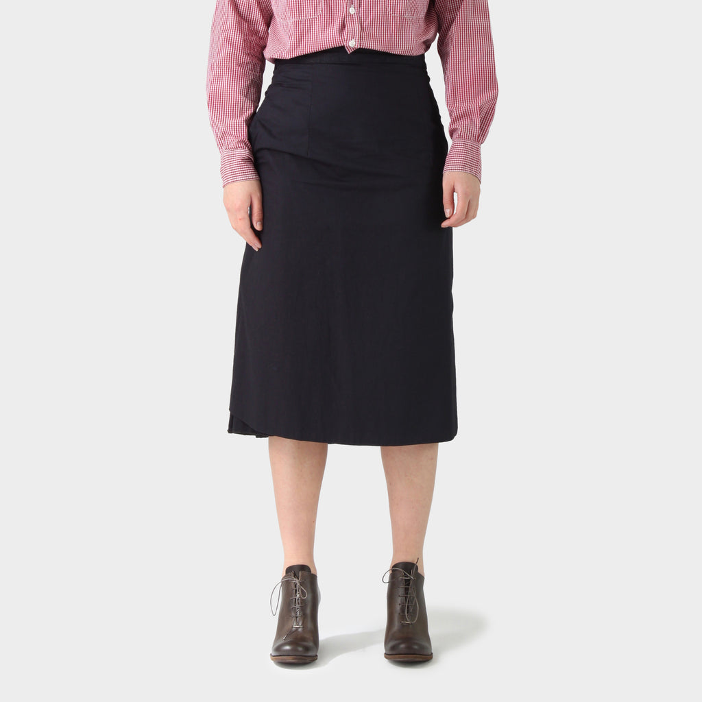 Paul Harnden Shoemakers Navy Cotton Apron Skirt