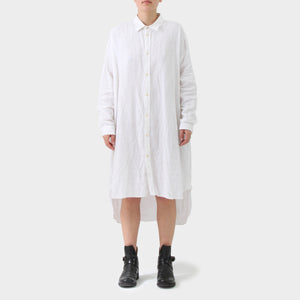 Daniel Andresen White Linen Shirt Dress