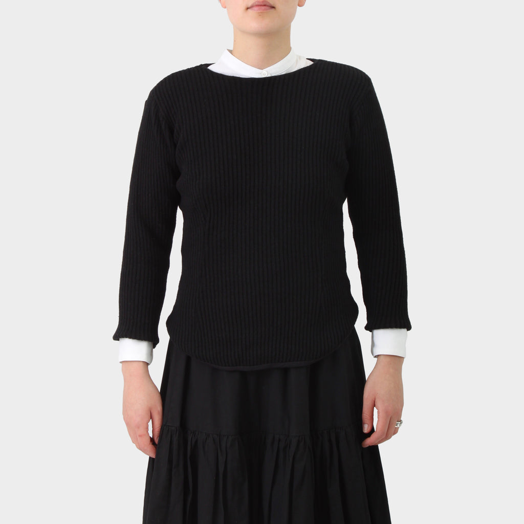 Paul Harnden Shoemakers Black Wool Knit Tunic