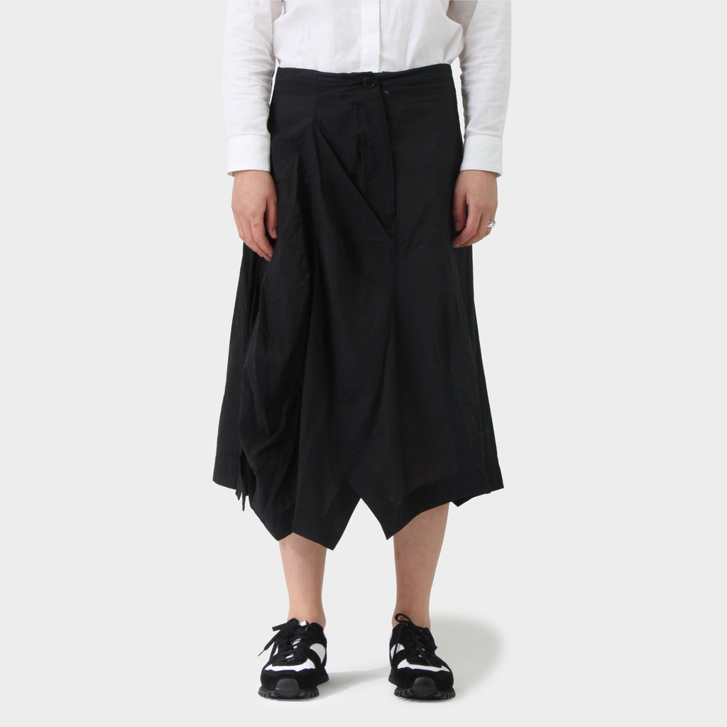 RUNDHOLZ Draped Volume Cotton Nylon Skirt