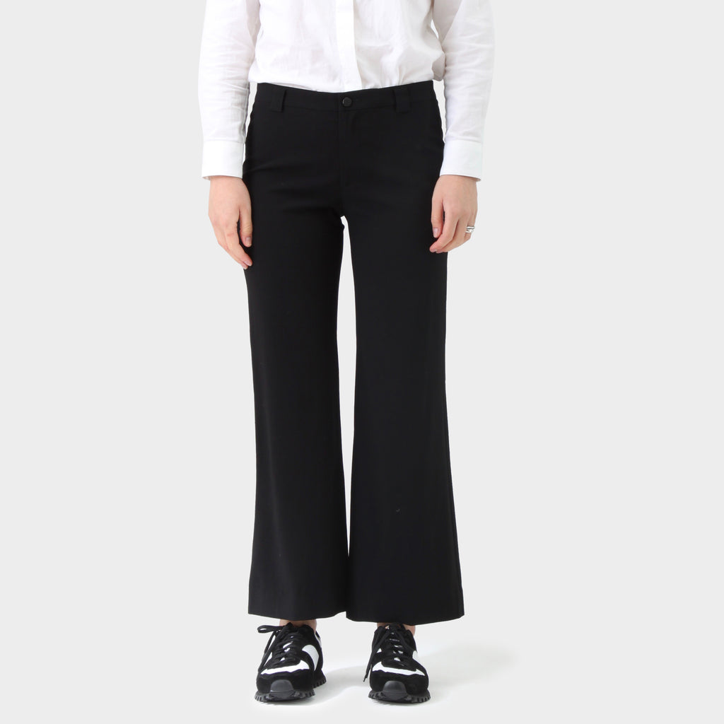 Issey Miyake Black Tailored Wool Pants