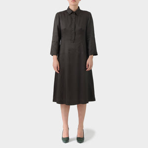 Dries Van Noten Brown Longsleeved Tunic Dress