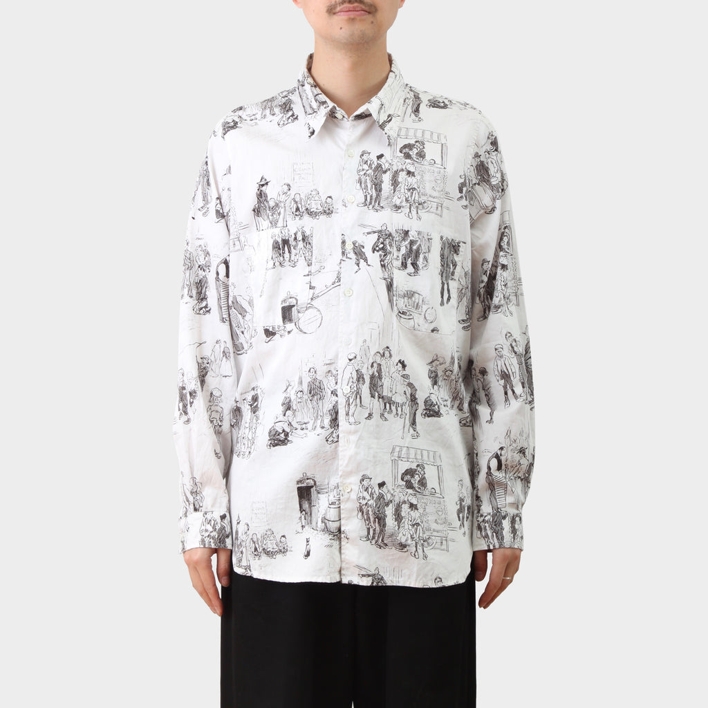 Paul Harnden Shoemakers Printed Easy Shirt