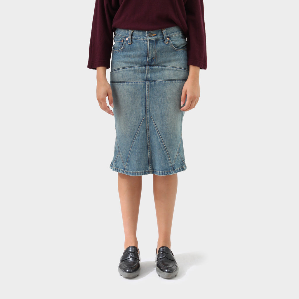 Junya Watanabe Denim High Waisted Skirt