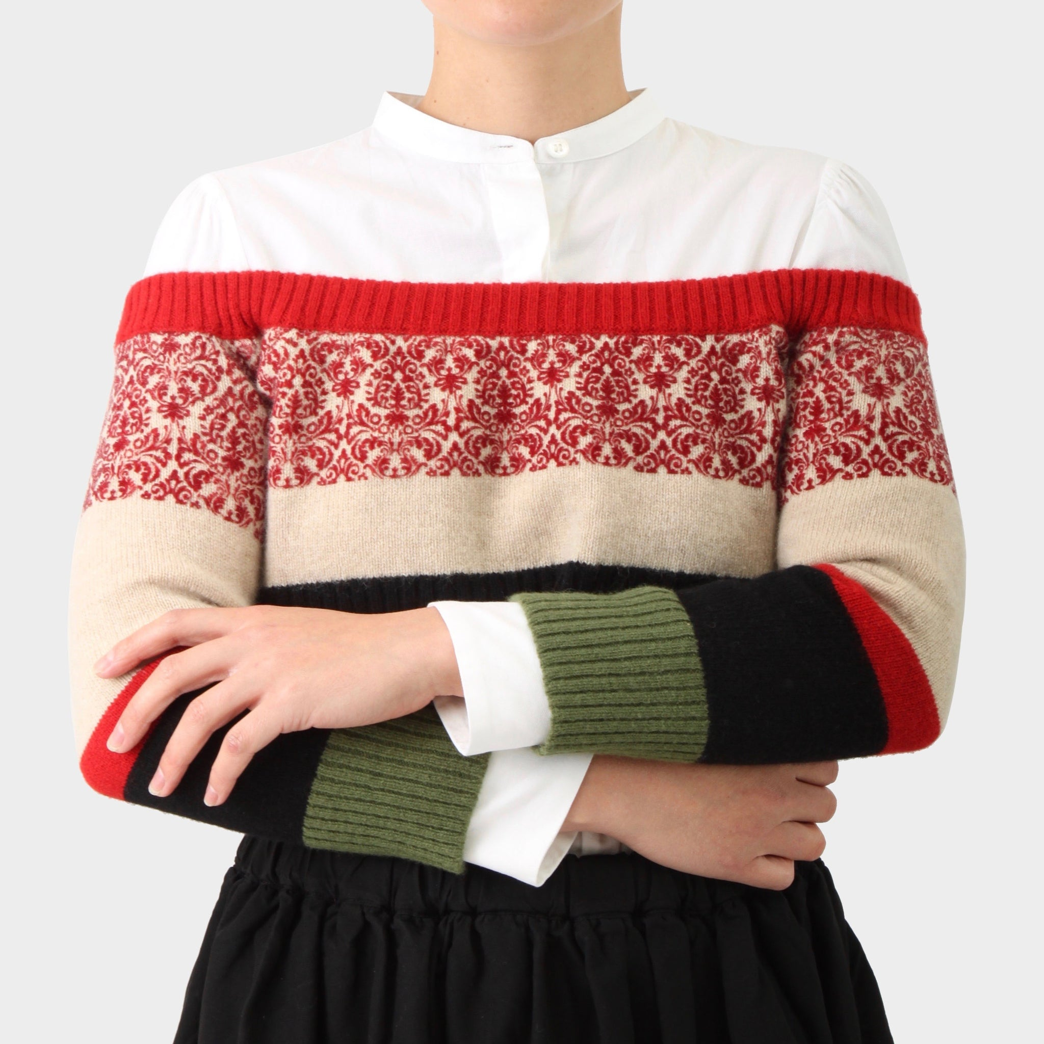 Undercover Knitted Sleeve Cropped Top