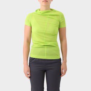 Comme des Garcons Green Distorted Poly Top