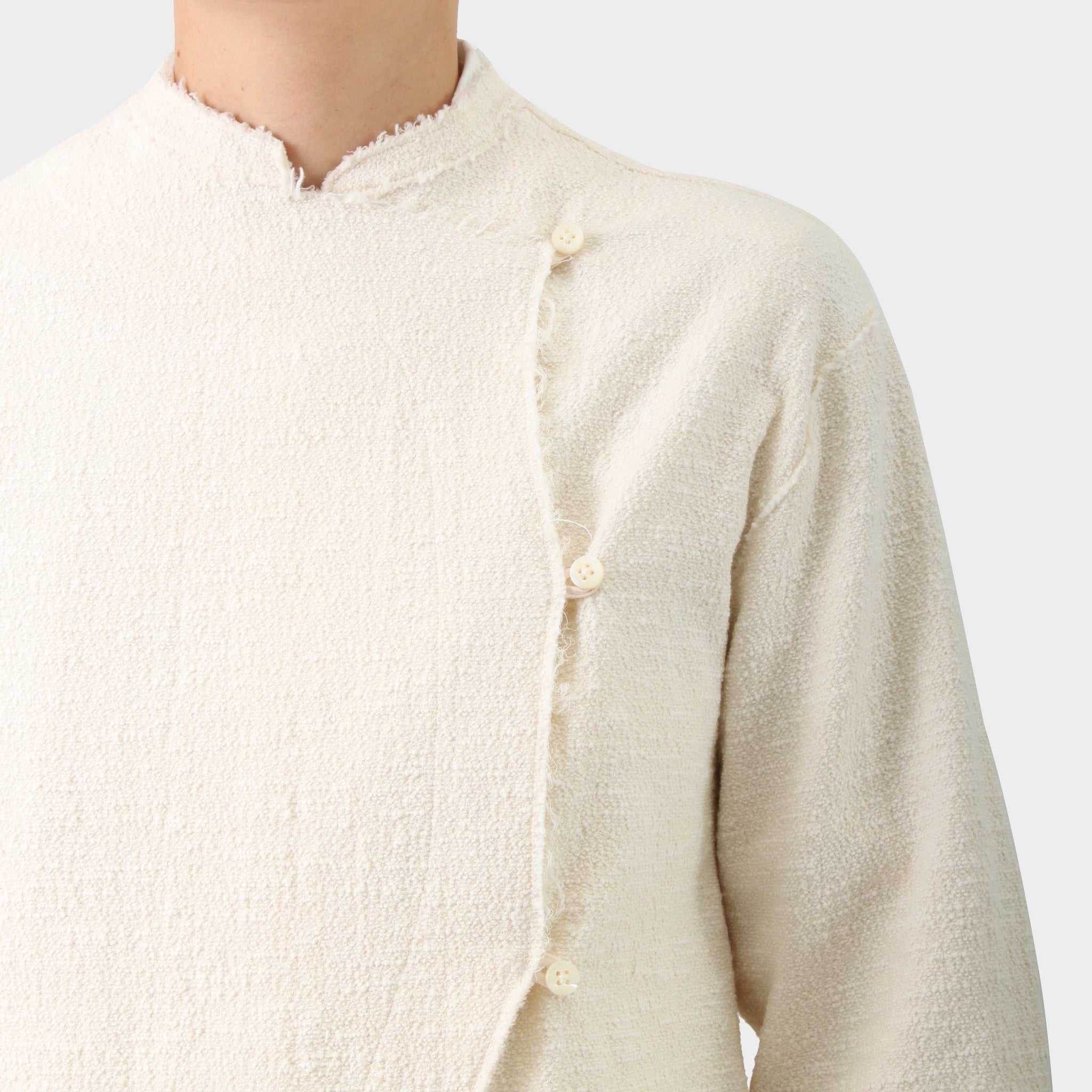 Jil Sander Stand Collar Boucle Fencing Jacket
