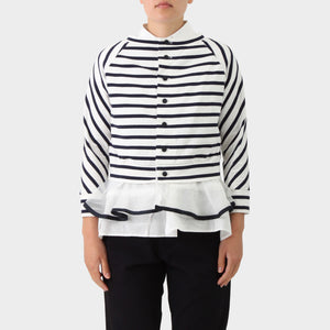 Sacai Breton Stripe Deconstructed Top