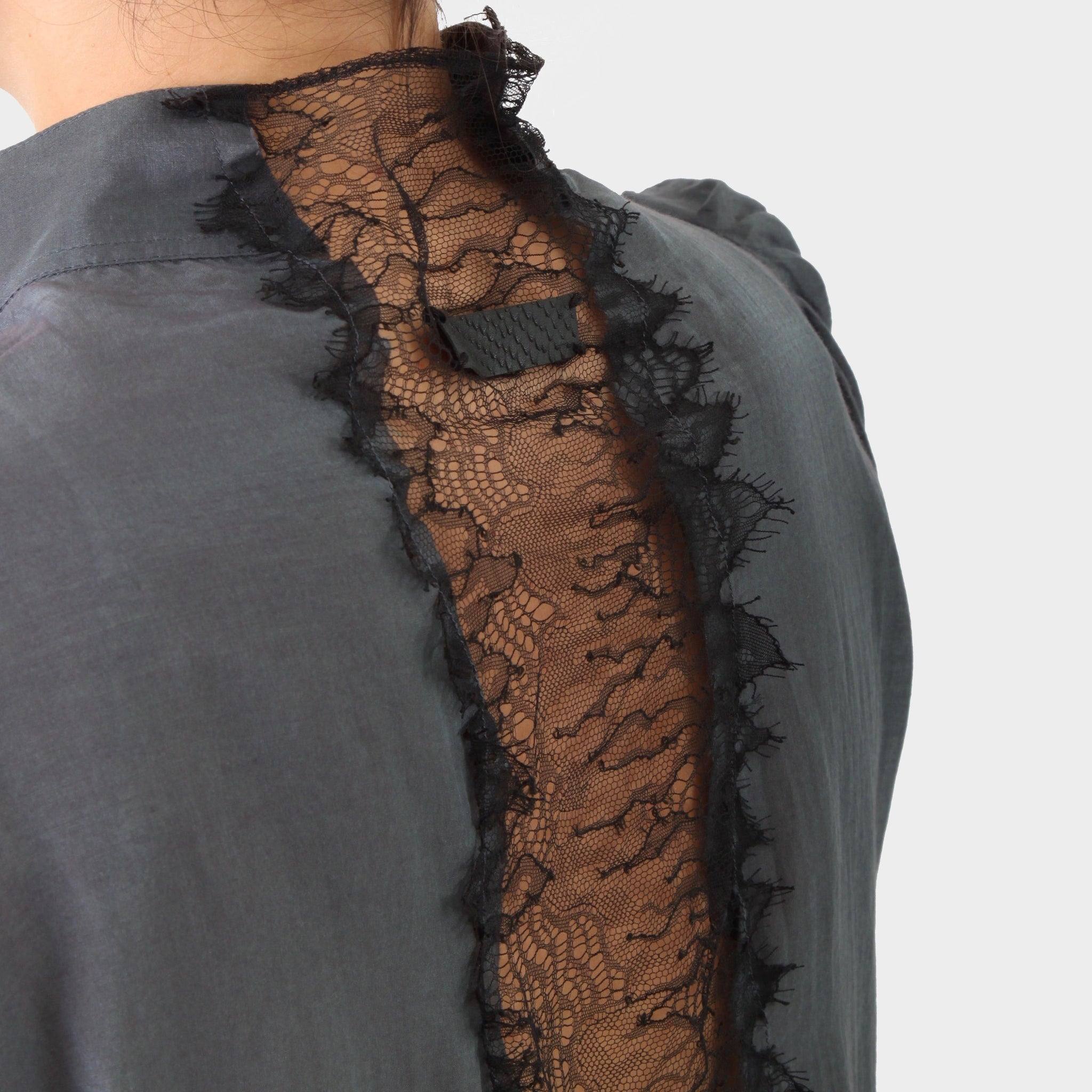 If 6 was 9 Lace Back Bib Front Shirt