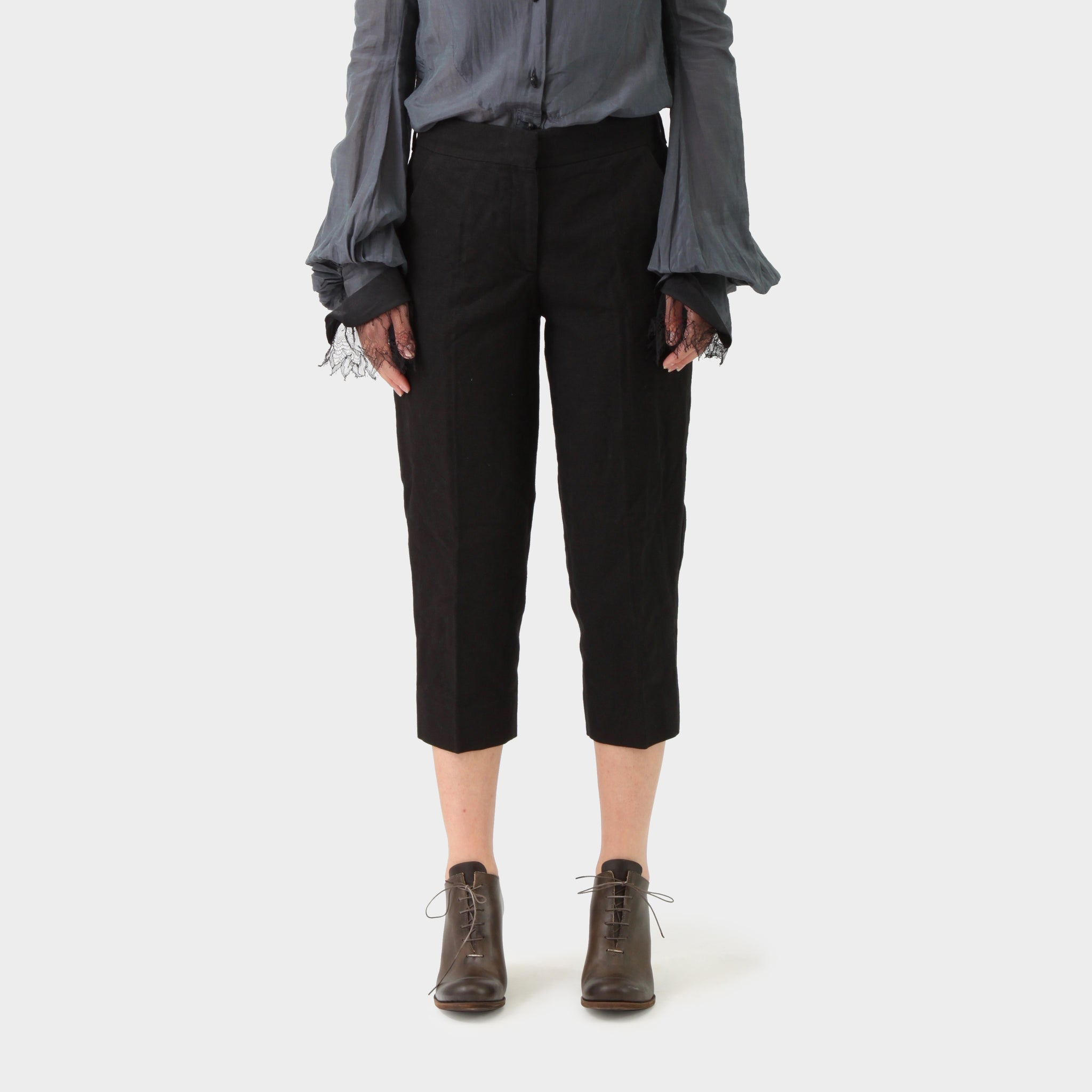 Prada Canvas Cropped Pant