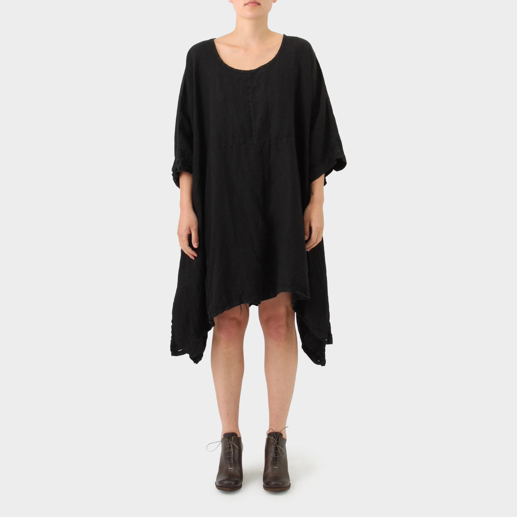 Pal Offner black washed linen oversized tunic