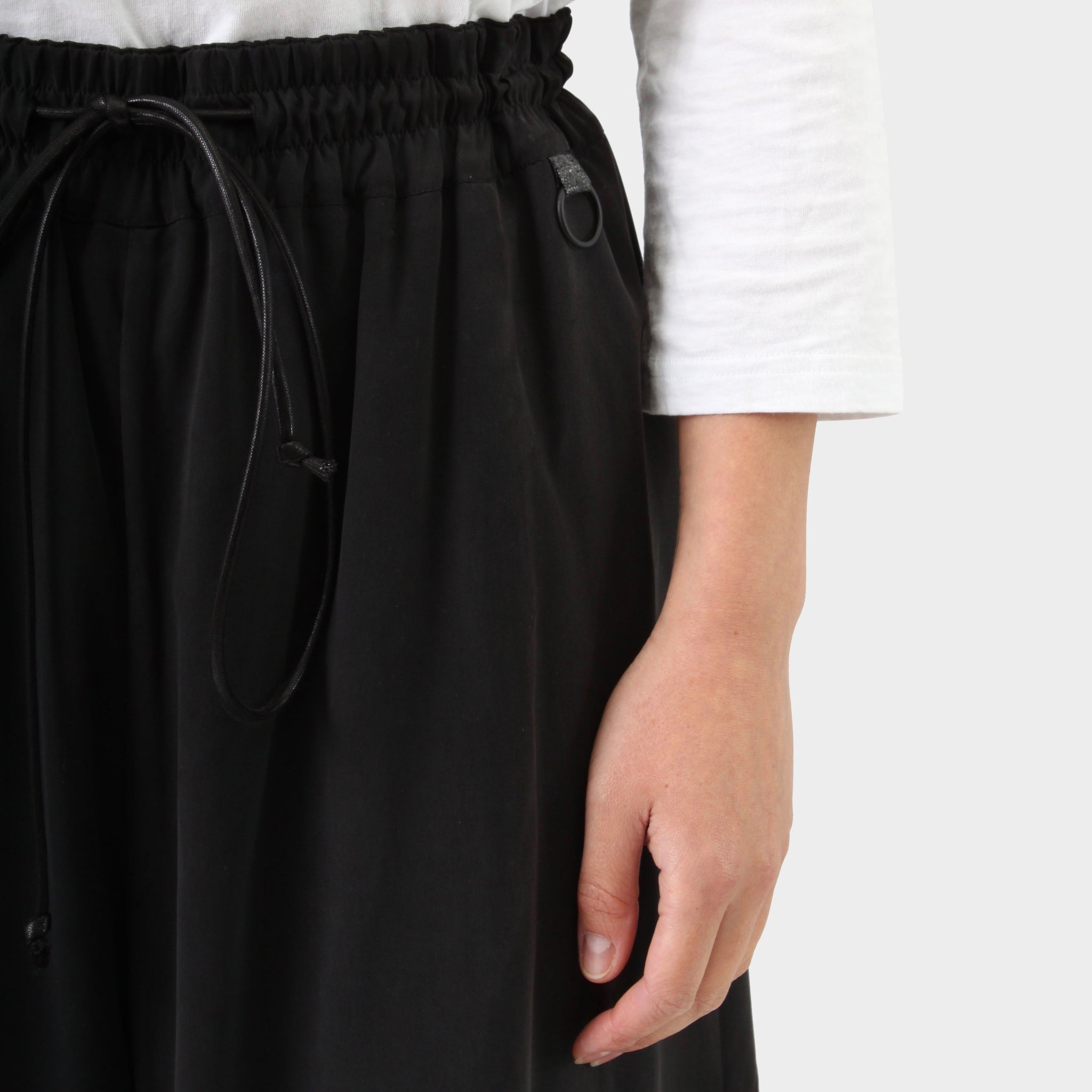 Toogood black washed silk loose pant