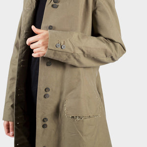 P.R. Patterson Green Cotton Dress Coat