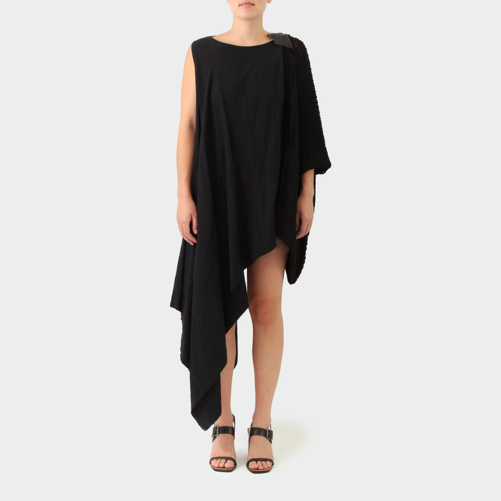 Uma Wang Spliced Knitted Dress