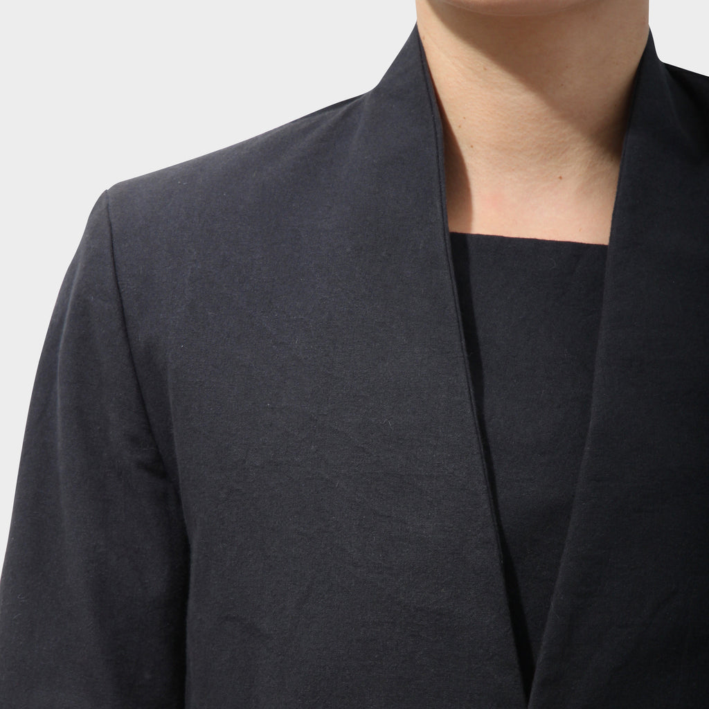 P.R. Patterson Navy Cotton collarless Jacket