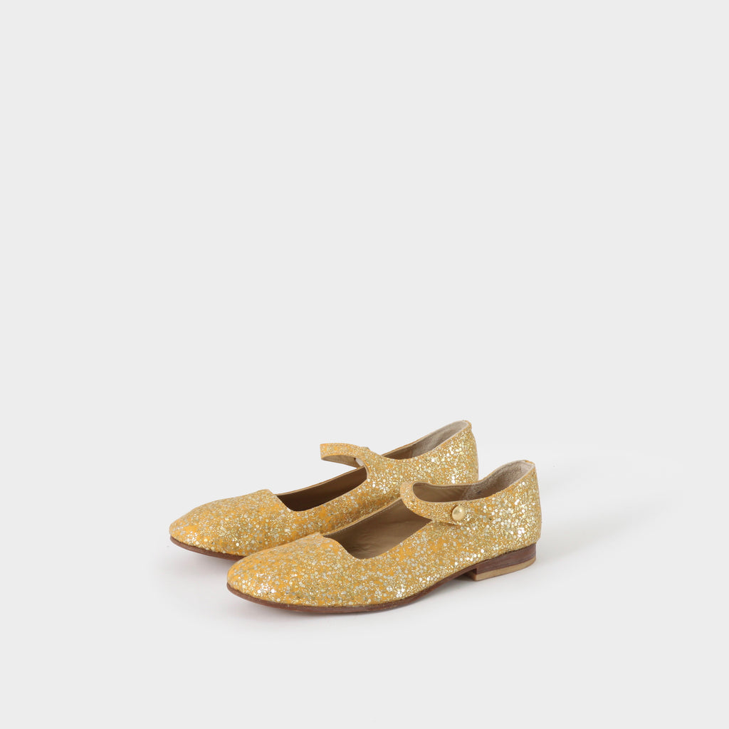 Junya Watanabe Gold Slip-on Shoes