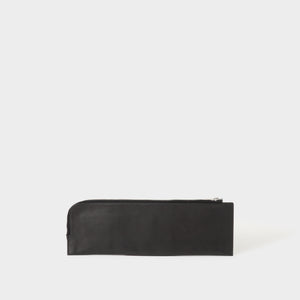 Rick Owens Leather Zip Around Clutch.