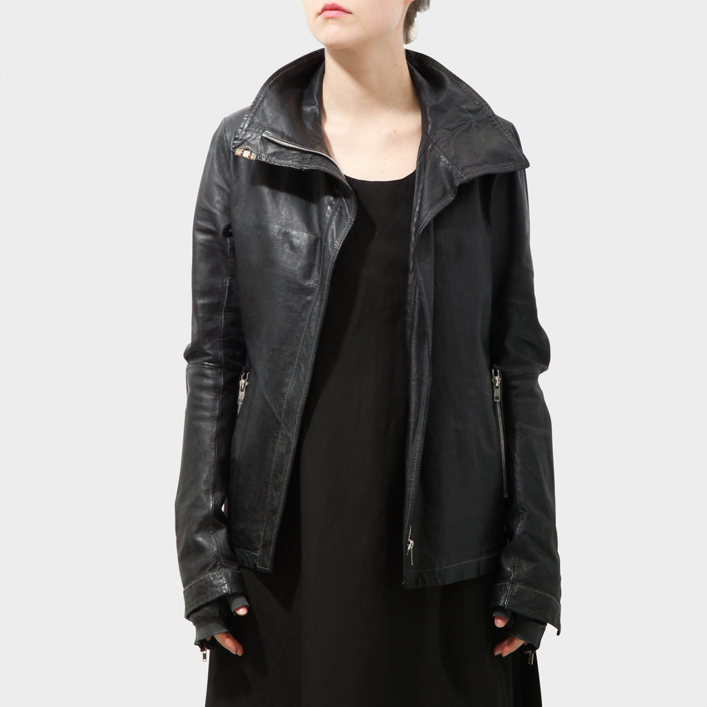 CAROL CHRISTIAN POELL HIGH-NECK GLOVED LEATHER JACKET
