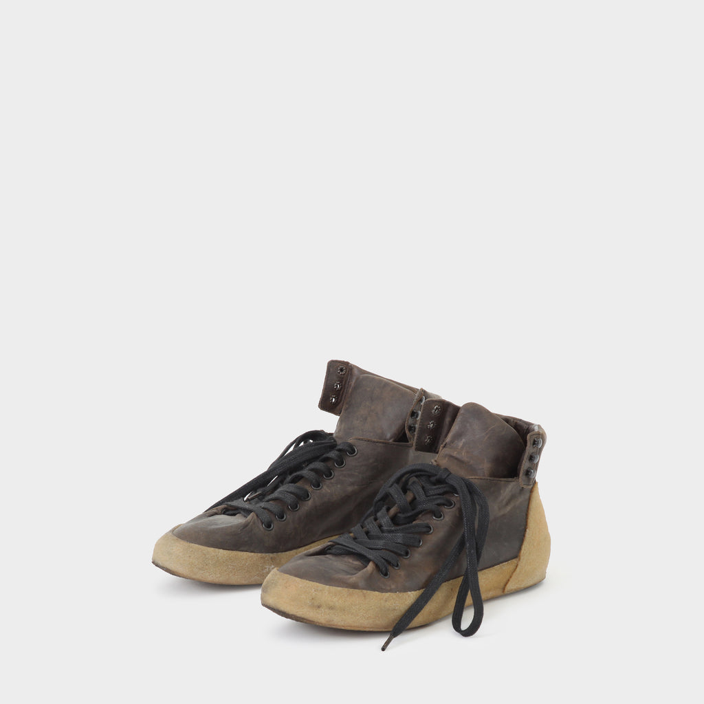 Deepti Folded Leather High Top