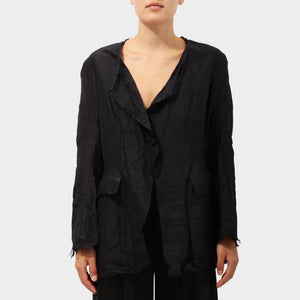Elena Dawson Raw Silk Wrap Jacket