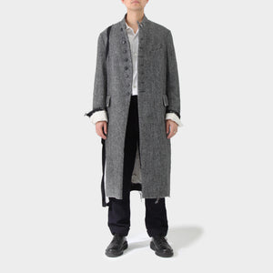 Elena Dawson Herringbone Coat with Tape Applique