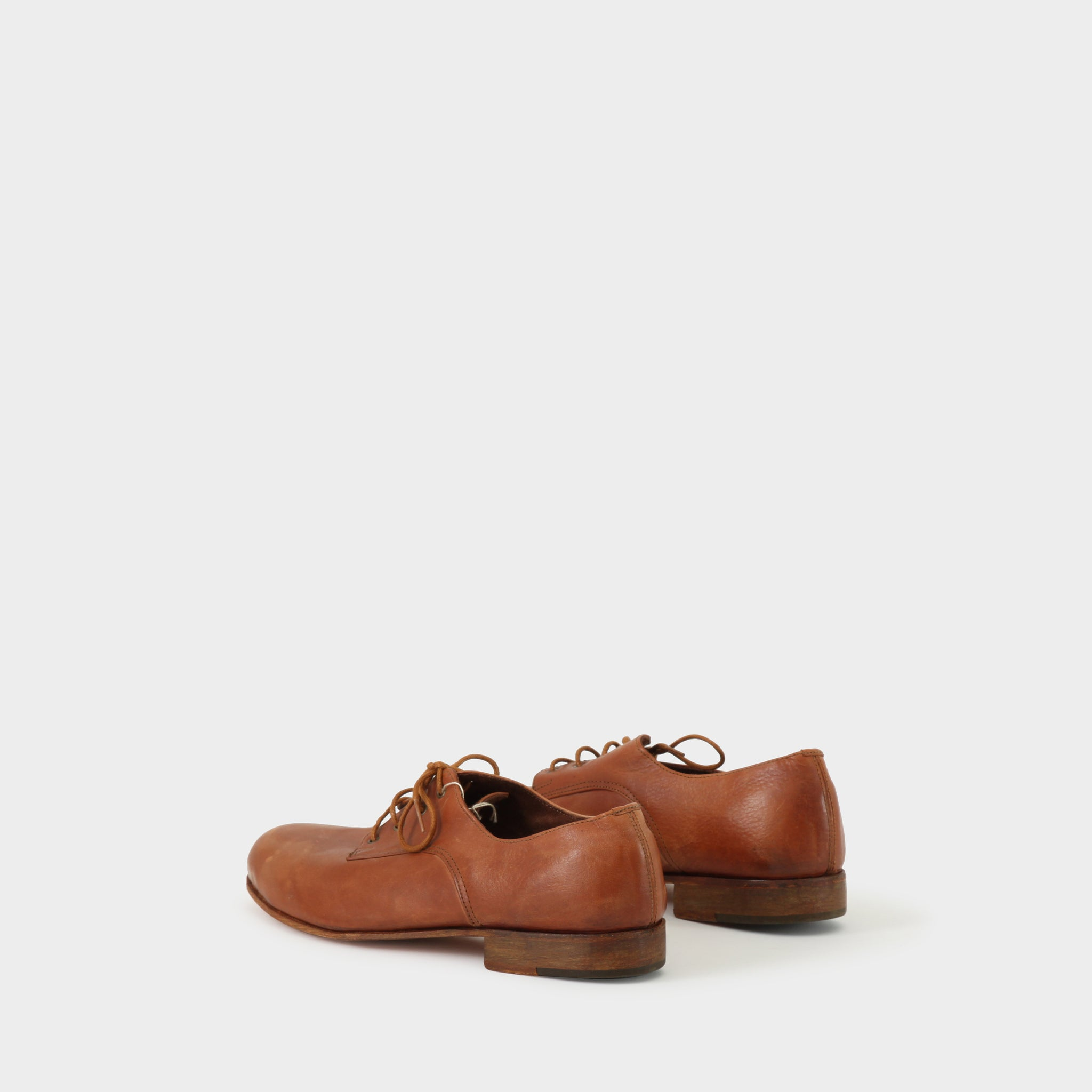 Geoffrey B Small Handmade Tan Leather Derby